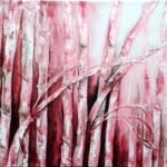 Amita Bamboos Series Acrylic on Canvas 36 x 72 Inches 50K
