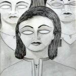 Vandana Zadoo Friends Pen & Poster Color on Paper 24x18 Inches 12K