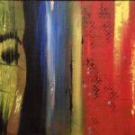 Sarbdeep Jaswal Woodan Face Acrylic on Canvas 16 x 32 Inches