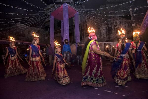 2018 HW 13 Sampa Guha Majumdar 02 Fire Garba Dance Jamnagar