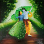 Paramjeet Kaur Krishna Oil on Canvas 30×36 Inches